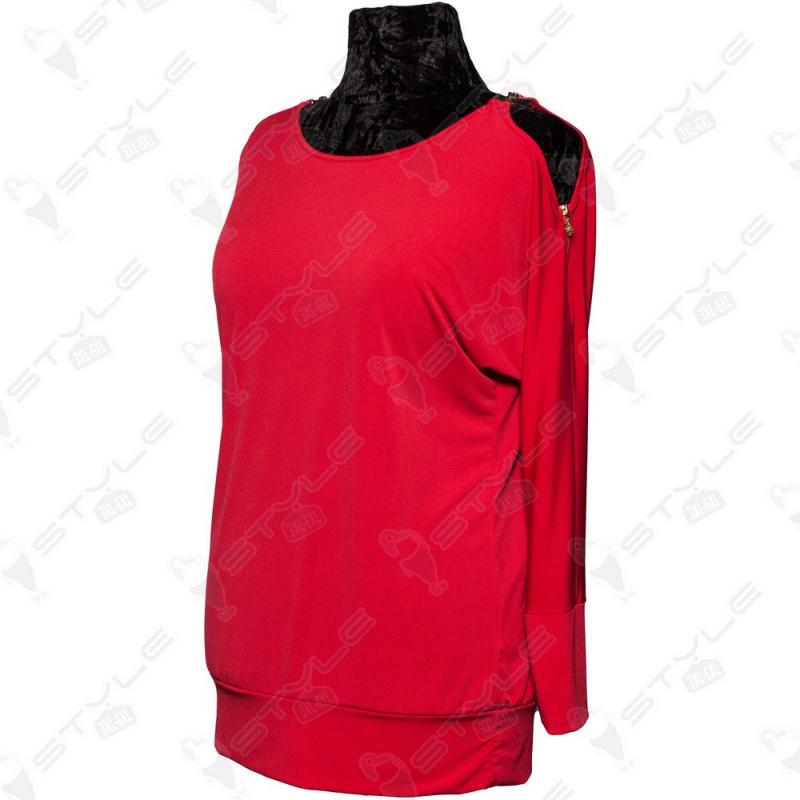 Кофта Luizza красная с открытыми плечами 1