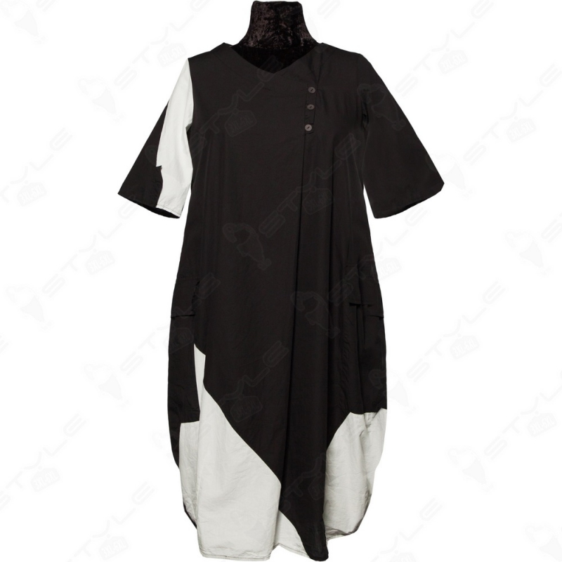 Платье LUUKAA черно-белое 0