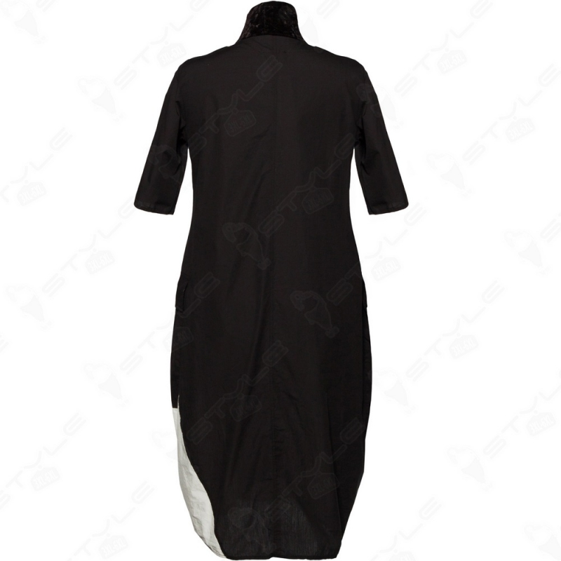 Платье LUUKAA черно-белое 2