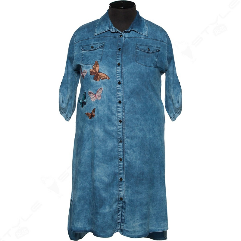 Джинсова сукня-сорочка COCOLINE