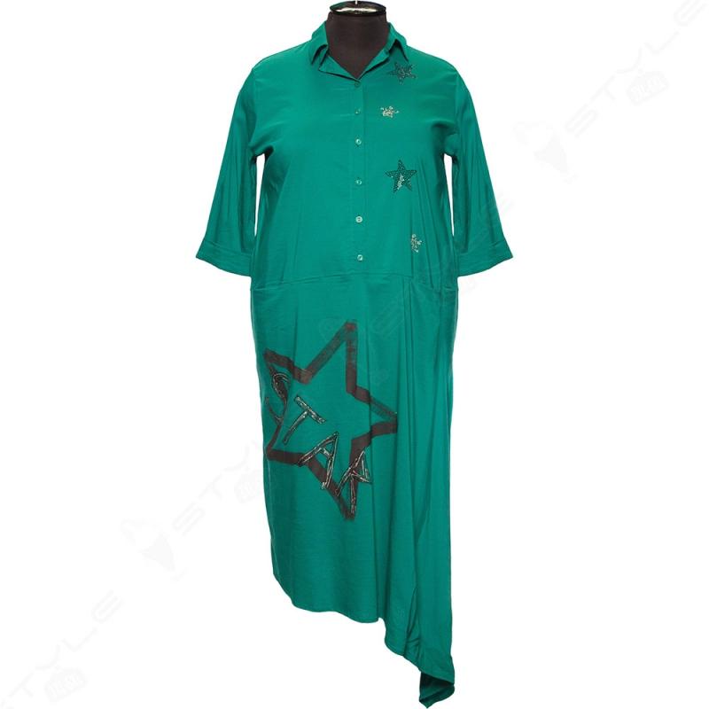 Прямое платье большого размера Divas Planet, зеленого цвета