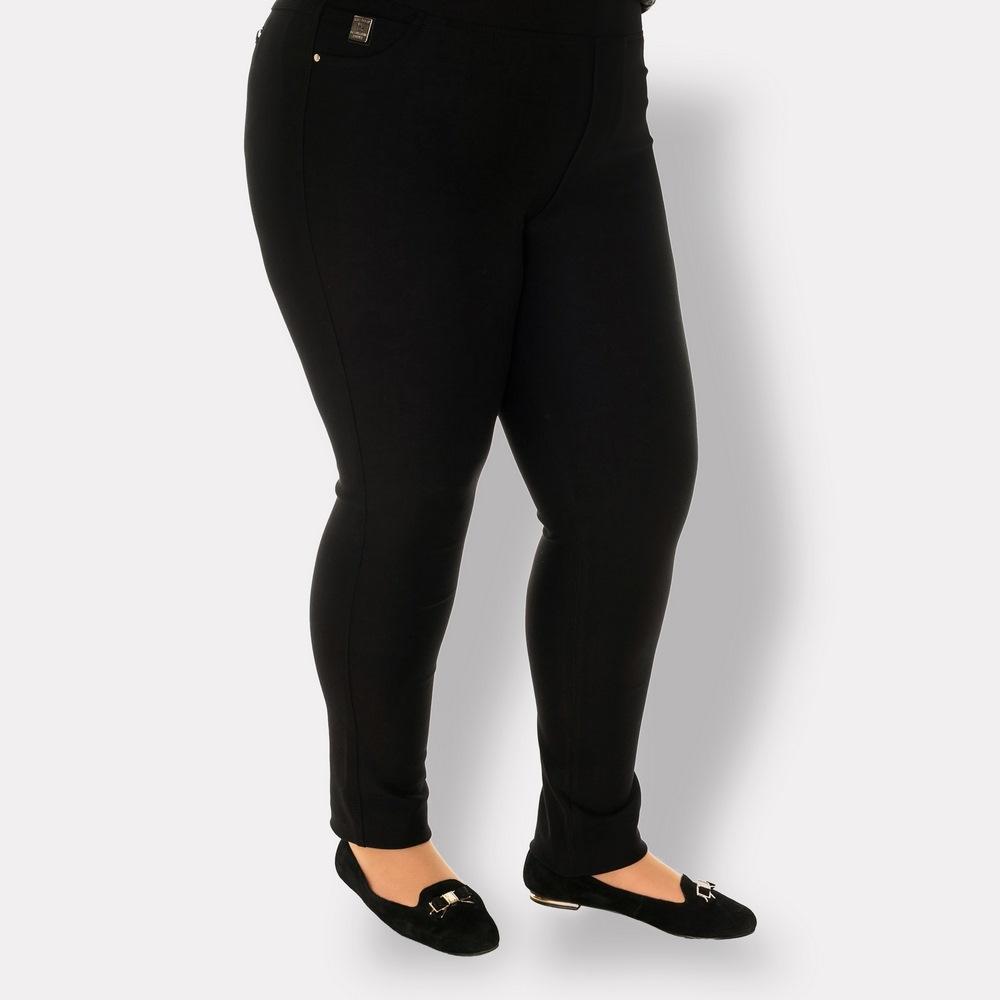 Черные женские брюки больших размеров. Ocean (Турция)