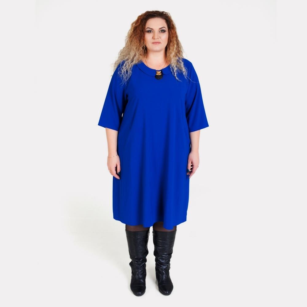 Синее платье большого размера ALAZORA