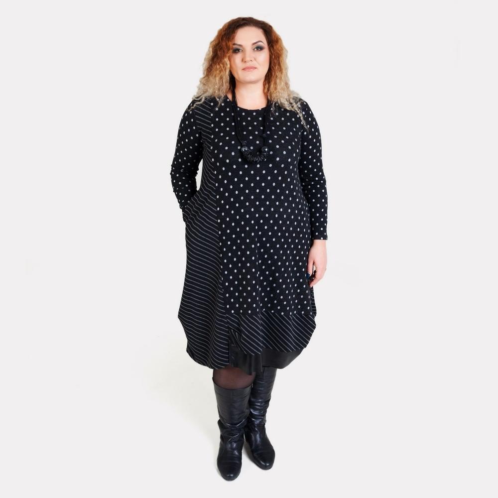 Теплое платье больших размеров DARKWIN