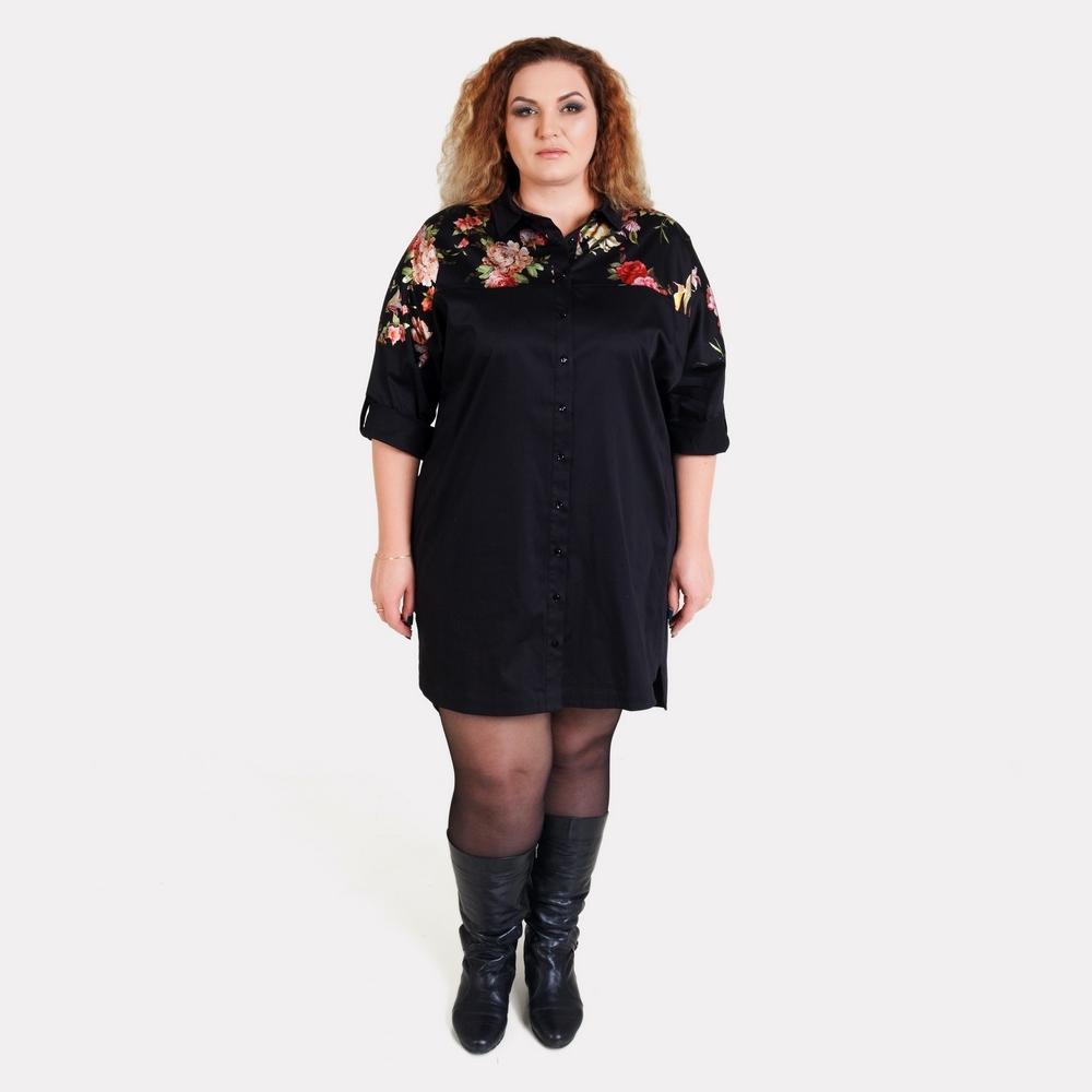 Эффектное платье-рубашка большого размера AY-SEL