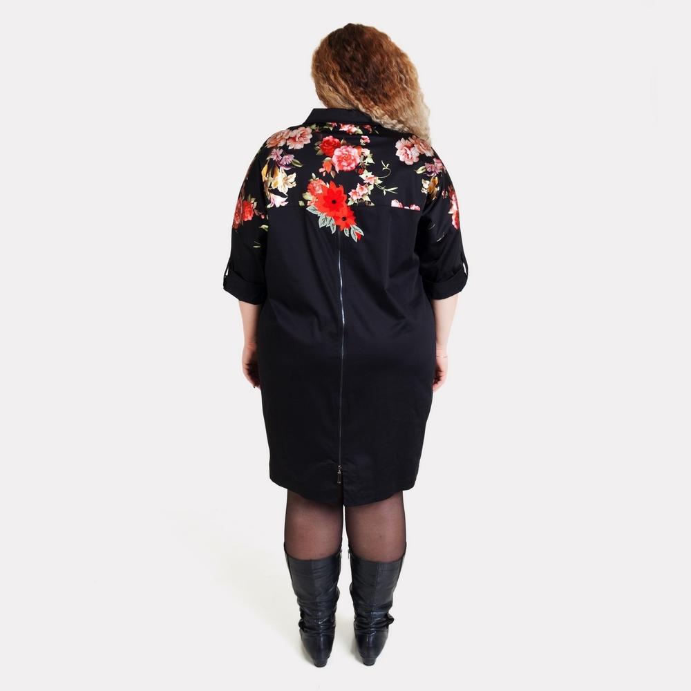 Эффектное платье-рубашка большого размера AY-SEL 2
