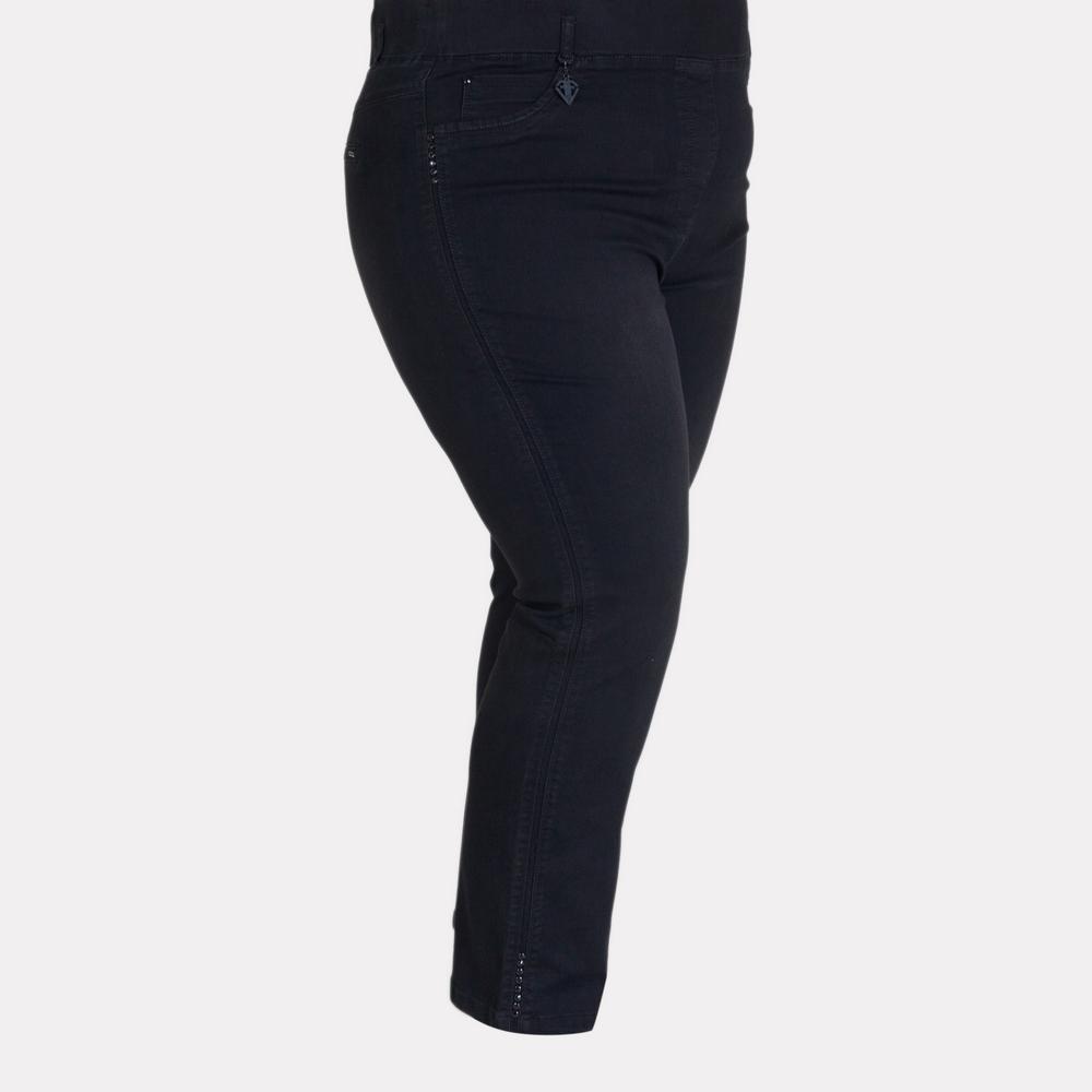 Женские черные джинсы батального размера. EVA & ENRICA.