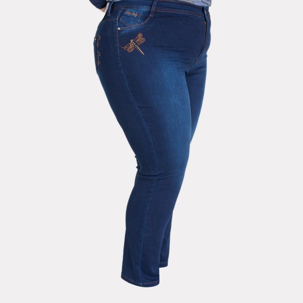 Женские джинсы-стрейч батального размера. LADY LUCKY.