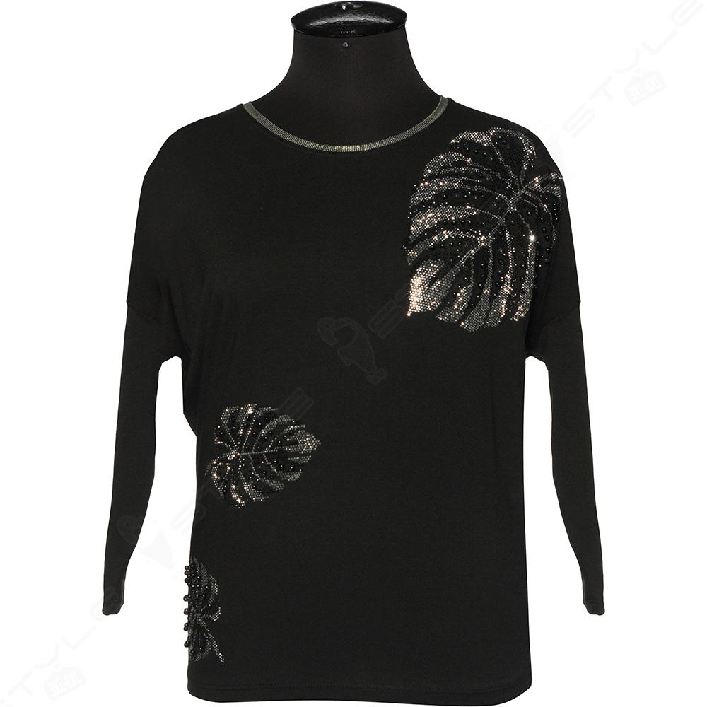 Женская черная кофта большого размера. AZRA (Турция).