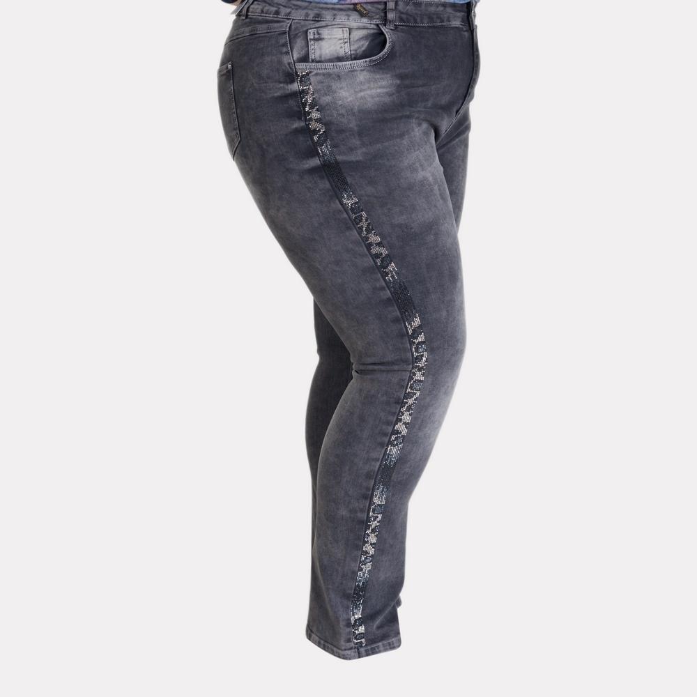 Женские серые джинсы большого размера. Luizza (Турция).