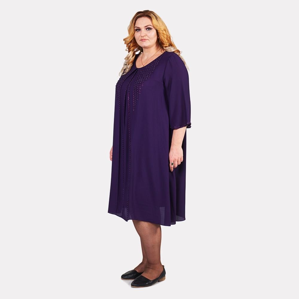 Шикарное женское синее платье COCOLINE 1