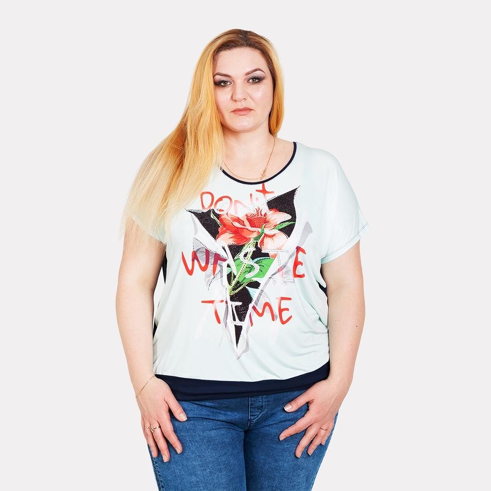 Женская футболка на манжете Darkwin
