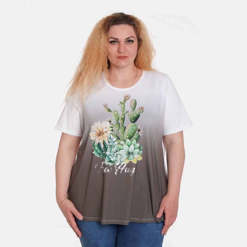 Женская футболка Ulla Popken