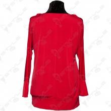 Кофта Luizza красная с открытыми плечами 2