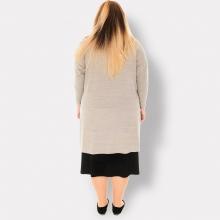 LA VELINA. Платья больших размеров. Бежевое. 2
