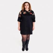 Эффектное платье-рубашка большого размера AY-SEL 0