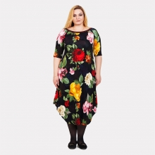 Красивое платье в яркие цветы Darkwin  0