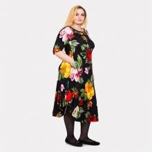 Красивое платье в яркие цветы Darkwin  1